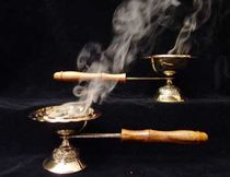 Ceremonial Censer - w/Wooden Handle