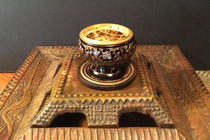 Small Carved Brass Resin Burner